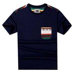 Other - Mens Jacquard Pocket Crew Neck T Shirt XL